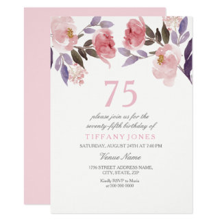 Soixante-quinzième invitation d'anniversaire