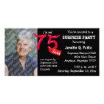 Soixante-quinzième invitation de photo de fête d'a photocarte customisée