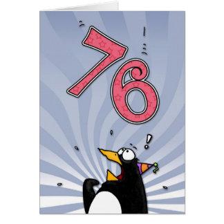 soixante-seizième anniversaire - carte de surprise