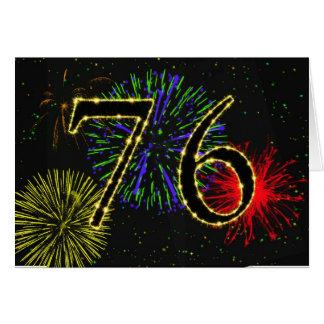 soixante-seizième Carte d'anniversaire avec des