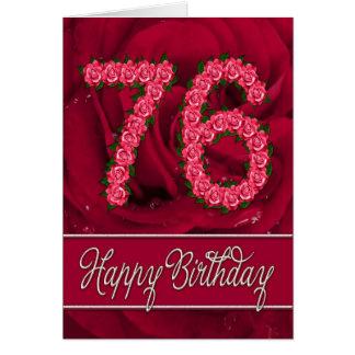 soixante-seizième carte d'anniversaire avec les