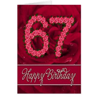 soixante-septième carte d'anniversaire avec les