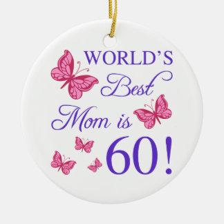 soixantième Anniversaire pour la maman Ornement Rond En Céramique