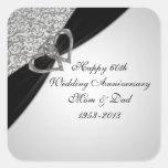 soixantième Autocollant d'anniversaire de mariage