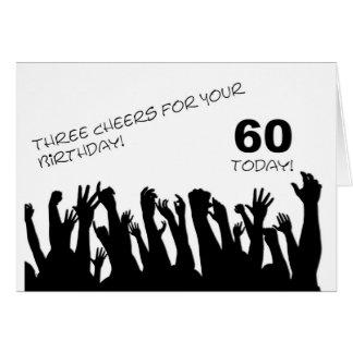 soixantième Carte d'anniversaire avec les foules