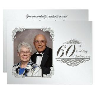 soixantième Carte d'invitation de photo