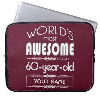 soixantième D anniversaire des mondes rouge foncé Housses Pour Ordinateur Portable