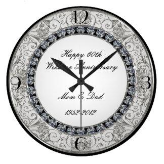 soixantième Horloge d'anniversaire de mariage
