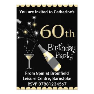 soixantième Invitation de fête d'anniversaire