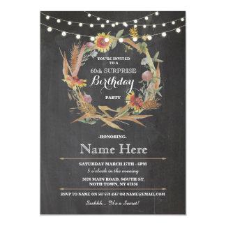 soixantième Invitation florale de guirlande de