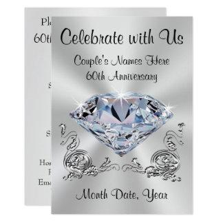 Soixantième invitations d'anniversaire