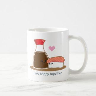 Soja heureux ensemble mug