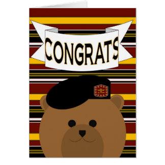 Soldat Congrats d'armée ! Carte de voeux
