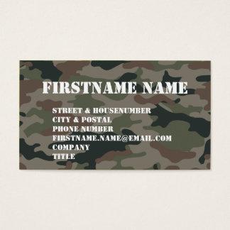 Soldat de Brown de vert de camouflage d'armée Cartes De Visite