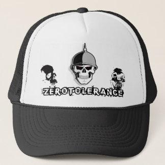 Soldat de crâne de tolérance zéro casquette