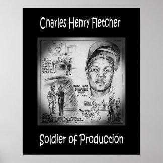 Soldat de ~ de Charles Fletcher de ~ Welder~ de Poster