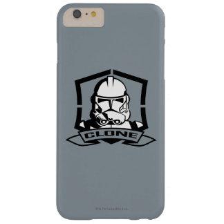 Soldat de la cavalerie de clone noir et blanc coque barely there iPhone 6 plus