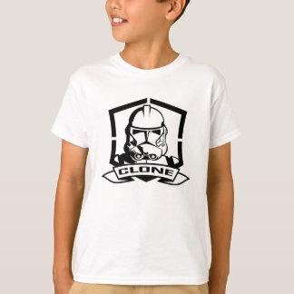 Soldat de la cavalerie de clone noir et blanc t-shirt