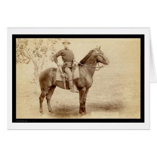 Soldat et cheval à l'écart-type 1890 de Cheyenne Carte De Vœux