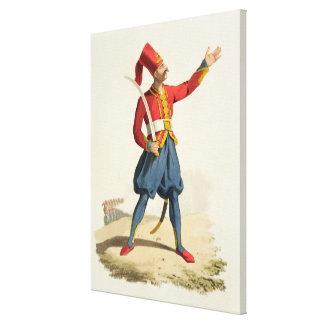 Soldat turc, des 'costumes du divers national toiles