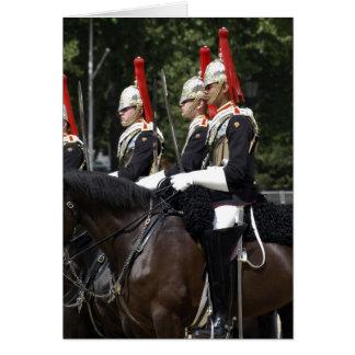 Soldats de cavalerie de ménage dans la carte de