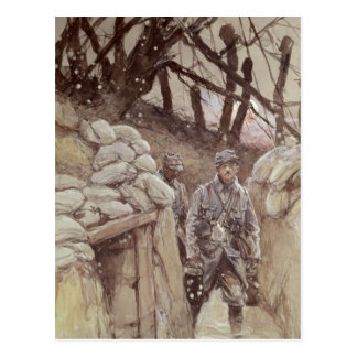 Soldats d'infanterie dans un fossé, Notre-Dame de Cartes Postales