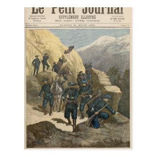 Soldats d'infanterie de montagne cartes postales
