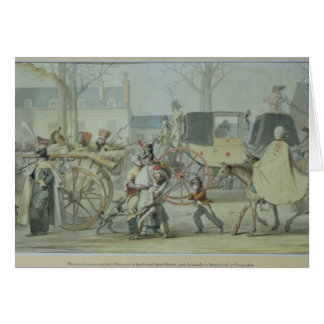 Soldats français blessés entrant dans Paris Carte De Vœux