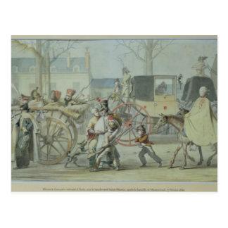 Soldats français blessés entrant dans Paris Carte Postale