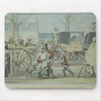 Soldats français blessés entrant dans Paris Tapis De Souris