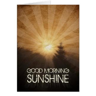 Soleil bonjour carte de vœux