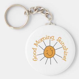 Soleil bonjour porte-clé rond