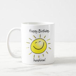 Soleil de joyeux anniversaire mug