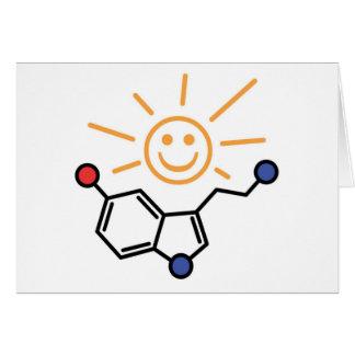 Soleil de sérotonine - le bonheur est chimie carte de vœux