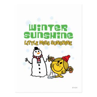 Soleil d'hiver carte postale
