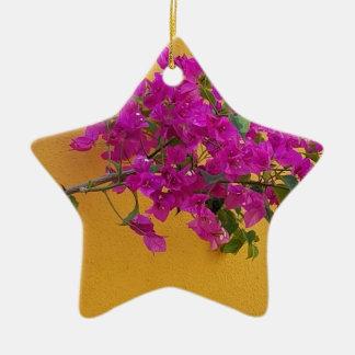 Soleil jaune de voûte de fleur de rose de mur ornement étoile en céramique