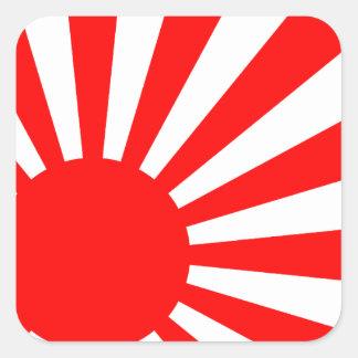autocollants carr s drapeau japon. Black Bedroom Furniture Sets. Home Design Ideas