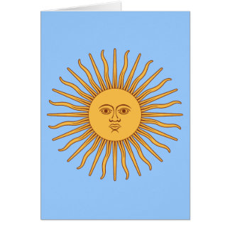 Solénoïde De Mayo de l'Argentine Carte De Vœux