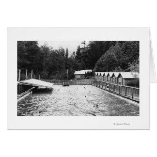 Solénoïde Duc Hot Springs, photographie de piscine Carte De Vœux