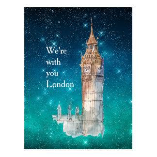 Solidarité de Londres d'aquarelle de Big Ben Carte Postale
