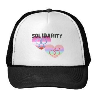 Solidarité gaie lesbienne casquette de camionneur