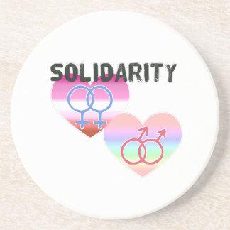 Solidarité gaie lesbienne dessous de verres