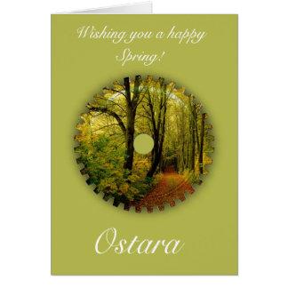 Solstice de ressort d'Ostara avec le paysage de Cartes
