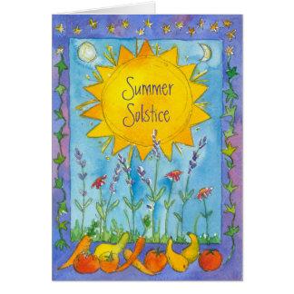 Solstice d'été d'aquarelle de nature de fruit de cartes