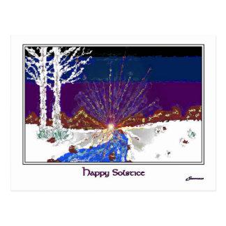 Solstice d'hiver cartes postales