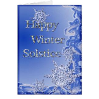Solstice d'hiver heureux carte de vœux