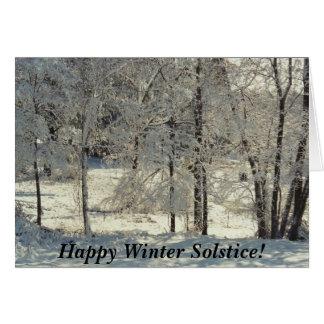 Solstice d'hiver heureux cartes