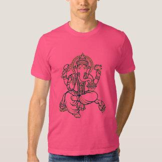 Solvant de Ganesh des obstacles T-shirts