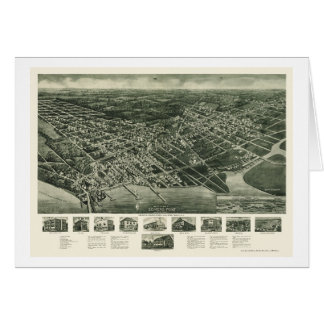 Somers-Point, carte panoramique de NJ - 1925