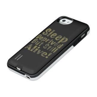 Sommeil déshérité mais encore vivant en jaune coque batterie pour iPhone SE/5/5s